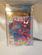 CGC 8.5 Spider-Man Unlimited #1 Maximum Carnage 1st App Shriek Venom 2 Marvel