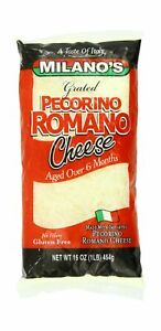 Milano's Romano Cheese Bags, Grated Pecorino, 16 Ounce 16 Ounce (Pack of 1)