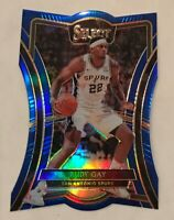 Rudy Gay Blue Premier Level die-cut 2019 20 Select  #149/249  San Antonio Spurs