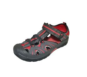 Merrell Hydro Rapid Water Sandals Gray Red Hiking Trail Shoes Boys Size 5