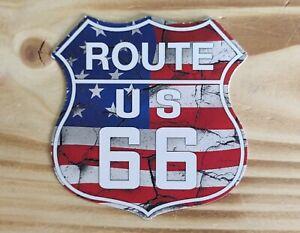 Aufkleber / Sticker / Route 66/ USA / Old School