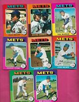 RARE 1975 OPC NEW YORK METS CARD LOT  (INV# J0498)