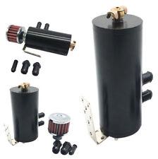 Universal Mini Aluminum Oil Catch Can Reservoir Tank 300ml+Breather Filter Set