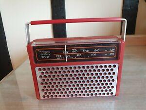 Vintage ITT Pony portable radio