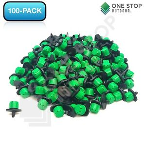 100Pc Adjustable Emitter Dripper Micro Drip Irrigation Sprinkler Watering System