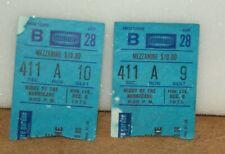 2 Ticket Stubs Night Of The Hurricane Bob Dylan At Madison Square Garden 1975 er