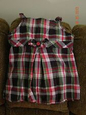 GYMBOREE PUPS AND KISSES THREE PIECE PLAID SKIRT SET IN SIZE 10