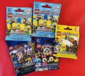 LEGO DISNEY SIMPSONS Series 16 Minifigure Lot x5 SEALED Blind Packs 71012 71013