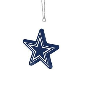 Dallas Cowboys Christmas Tree Holiday Ornament New - Team Logo Resin Star Logo