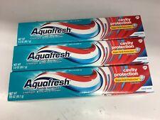 New 3 packs Aquafresh Cavity Protection Fluoride Toothpaste, Cool Mint 3 oz