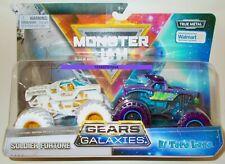 MONSTER JAM Gears And Galaxies SOLDIER FORTUNE EL TORO LOCO 2 Pack Trucks READ!!