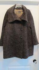 Stunning EUC Brown CINZIA ROCCA Wool + Alpaca Coat Size 12
