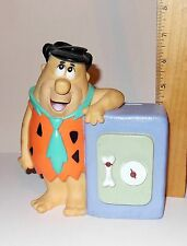 Vintage Fred Flintstone Hanna-Baarbera Coin Bank With Stopper - 1992