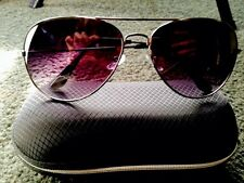 Purple Blue Black Aviator Sunglasses Grunge Goth Hippy Boho Summer + Case