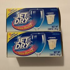 Jet-Dry Dishwasher Rinse Agent 2 Boxes 4 Baskets Original Discontinued 2.68 oz