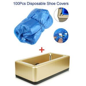 Office/Home Automatic Shoe Covers Machine+100 pcs Disposable Dustproof Shoe Cove