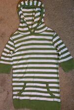Scooter Brown 3/4 Sleeve Elbow Girls Tee Shirt Sz 14 Green Stripe Hoodie Vintage