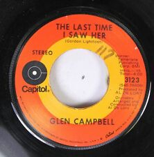 Country 45 Glen Campbell - The Last Time I Saw Her / Bach Talk On Capitol