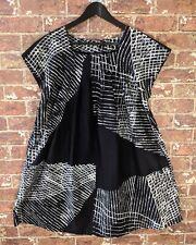 Marimekko M Dress Black White Dress Boxy Relaxed A-line Short Sleeve Cotton