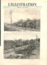 Accident de Taillebourg train express Paris-Royan ligne de Nantes GRAVURE 1892