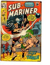 Lot Of 4 Prince Namor Sub-Mariner Marvel Comic Books # 40 41 42 43 VG Range RH2