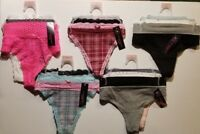 Women's Size LARGE No Boundaries 3-Pack Thong Panties CHOOSE PACK NWT FAST SHIP