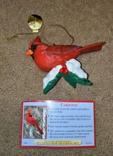 Danbury Mint Cardinal Songbird Collection Christmas Ornament Red Bird Rare Htf