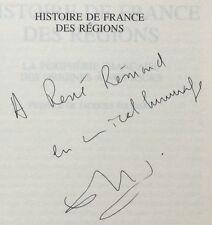 EO ENVOI dédicace E.LE ROY LADURIE: HISTOIRE DE FRANCE DES RÉGIONS Seuil 2001