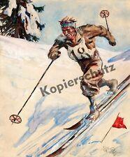 Elk Eber Ski Langlauf Telemark Garmisch-Partenkirchen Wintersport Olympia 1936