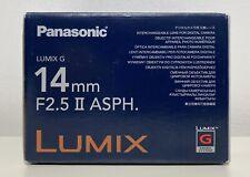 Panasonic 14mm F2.5  II ASPH Lumix G Lens Black