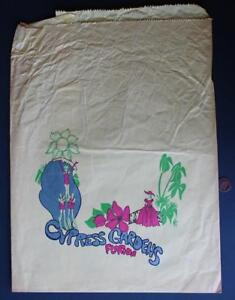 1960-70 Era Winter Haven Florida Cypress Gardens souvenir store bag-Water Skier!