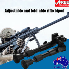 Tactical Adjustable Rifle Bipod Sniper Mount with Adapter For Gun Scope Durable