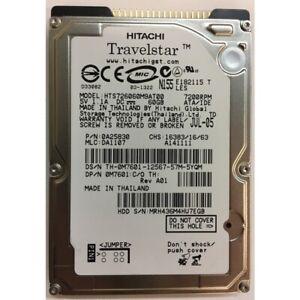 """HTS726060M9AT00 - Hitachi 60GB 7200 RPM IDE 2.5"""" HDD"""