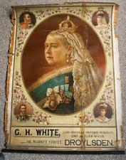 Antique Victorian Poster Queen Victoria General Grocers Store