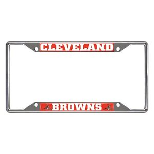 Fanmats NFL Cleveland Browns Chrome Metal License Plate Frame Delivery 2-4 Days