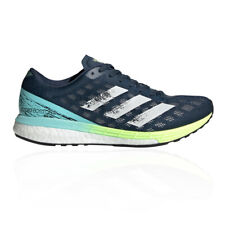 adidas Womens Adizero Boston 9 Running Shoes Trainers Sneakers Navy Blue Sports