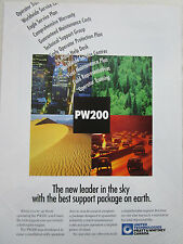 1/1996 PUB PRATT & WHITNEY CANADA PW200 HELICOPTER ENGINE CUSTOMER SERVICE AD