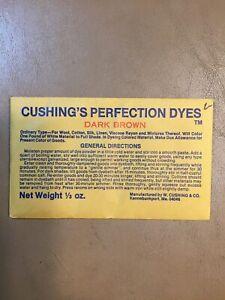 Sealed CUSHING'S PERFECTION DYES Dark Brown