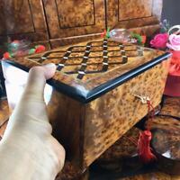 keepsake Large box, Jewelry organizer lockable lid mosaic thuya wooden gift box