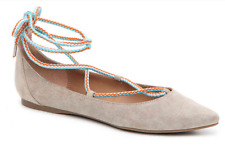 NEW STEVE MADDEN EMILIE BLUSH SUEDE FLAT SHOES WOMENS 8 FREE SHIP!
