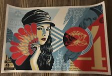Obey Giant Fan The Flames Signed Numbered Screen Print Shepard Fairey #/550