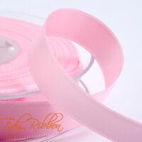 Baby Ribbon Cut Length Satin Organza Grosgrain Bow Boy Girl Blue Pink Teddy Feet