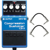 Boss CS3 CS-3 Compression Sustainer Pedal with Patch Cables