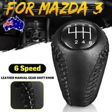 6 Speed Car Manual Gear Shift Knob Hand Leather For Mazda 3 5 6 / CX-7 MX-5 AU
