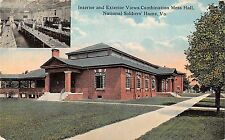 Virginia National Soldiers Home Mess Hall Views Antique Postcard (J35337)