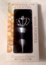Wine Country Wine Stopper Connoisseur's Collection Crown Metal