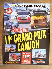 Affiche  d'époque 11 ème Grand Prix Camion  Circuit Paul Ricard  Mercedes Truck
