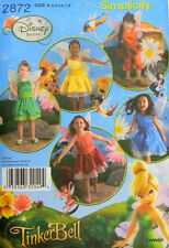 Simplicity 2872 Girls Fairy Costumes from TinkerBell Pattern 3-8