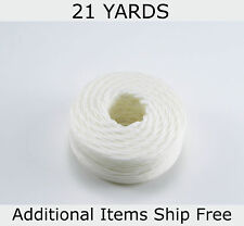 Waxed Nylon Cord, Artificial Sinew, Aptan Hembob, White