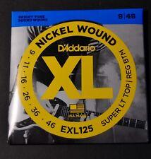 D'Addario EXL125 Nickel wound 9/46 Cordes guitare guitar strings NEUF